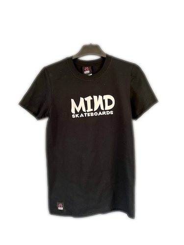 "Mind Skateboards ""Black Chest Script Tee"""