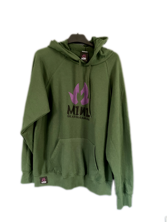 "Mind Skateboards ""Green Chest Print Hoodie"""