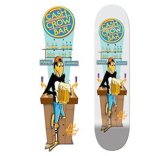 "Cash Skateboards ""Crowbar Hazze Lindgren Pro Model """