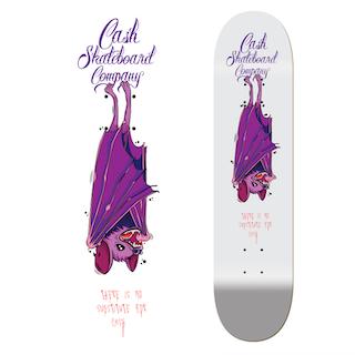 "Cash Skateboards ""The Bat"""