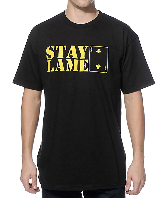 """Low Card-""""stay lame logo tee"""""""