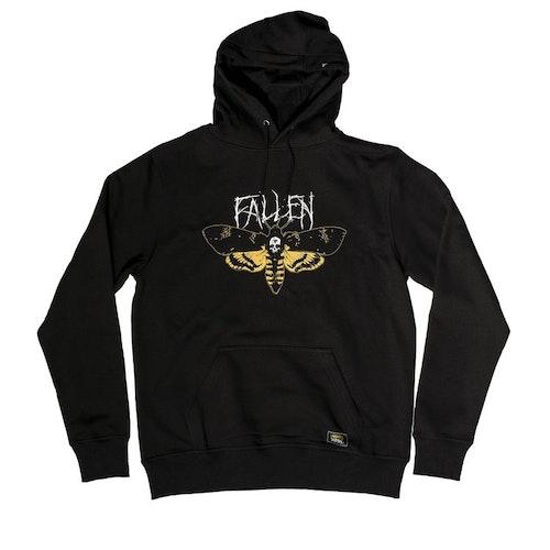 FALLEN - MOTH HOODIE - BLACK