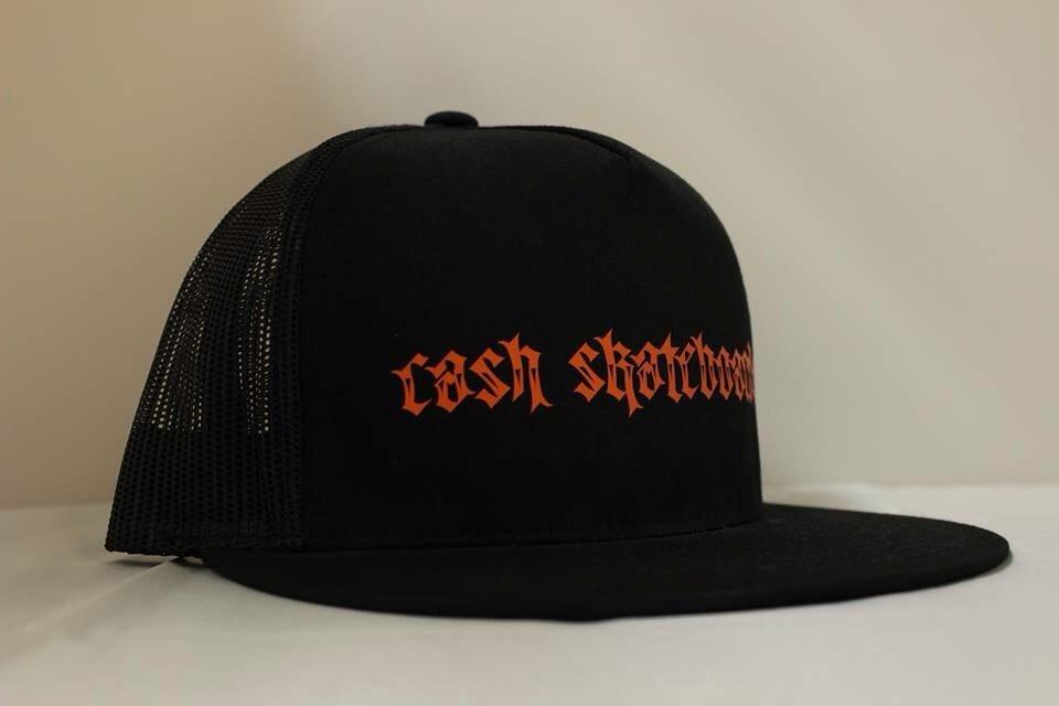 "Cash skateboard Trucker-""No.666 script"""
