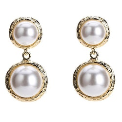 Lina pearls earrings gold
