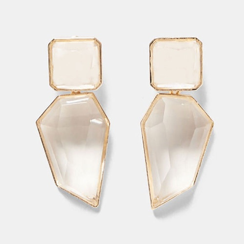 Bella earrings white