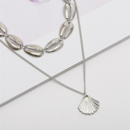 Hot seashell necklace silver