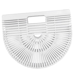 Bamboo purse white