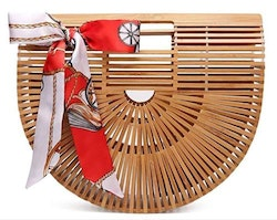Bamboo purse natural