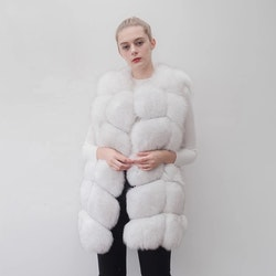 Danielle vest real fur white