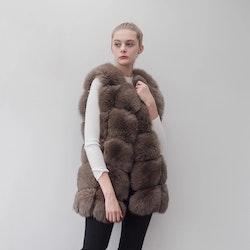 Danielle vest real fur brown