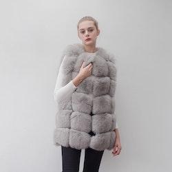 Danielle vest real fur grey