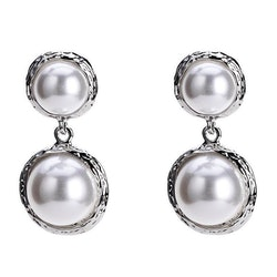 Lina pearl earrings silver