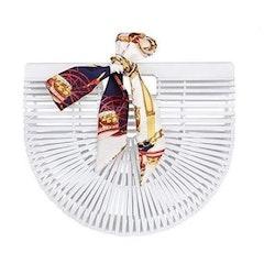 Bamboo purse white