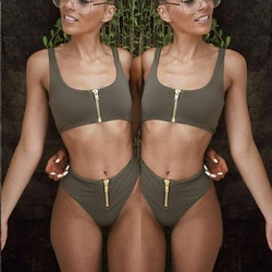 Becca bikini green