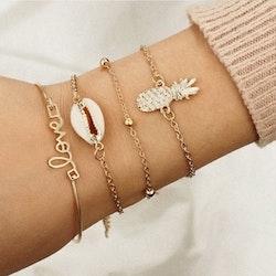 4 pcs pineapple bracelet