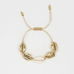 Gold/white seashell bracelet