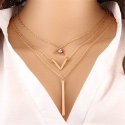 Crystal & Triangle necklace