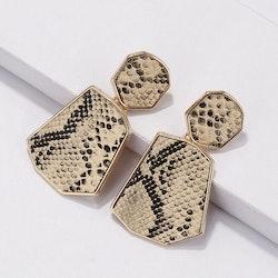 Heather white snake earrings