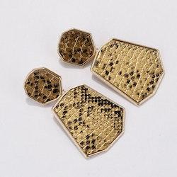 Heather gold snake earrings