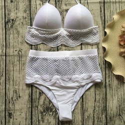 Ava bikini high waisted white