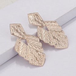 Silvia leaf earrings rose