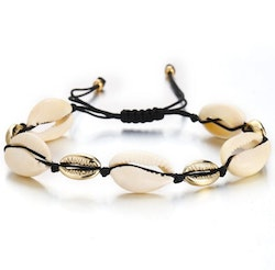 Choker shell black & gold