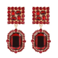 Michelle earrings red