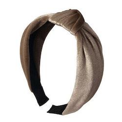 Headband velvet beige