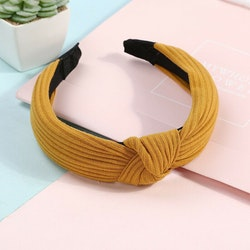 Headband bow yellow