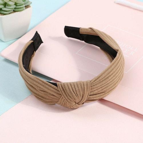 Headband bow khaki