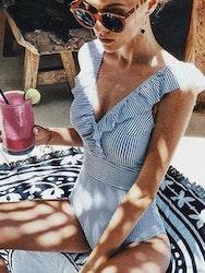 Mykonos ruffle swimsuit