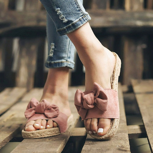 Bowknot slippers pink