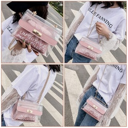 Cathy transparent purse pink