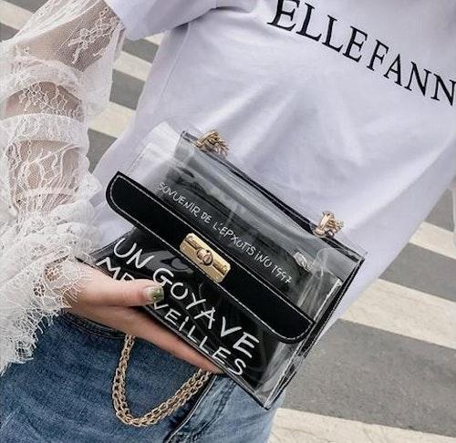 Cathy transparent purse black
