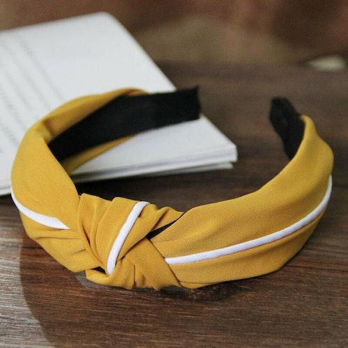Headband striped Yellow/white