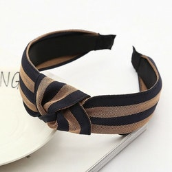 Headband striped brown/navy