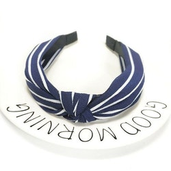 Headband striped Navy/white