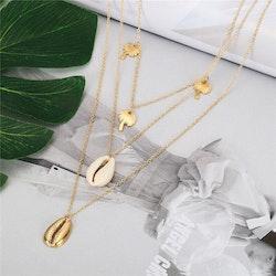 Layered seashell gold