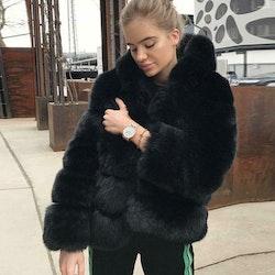 Belle Jacket faux fur black