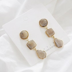 Elise earrings grey