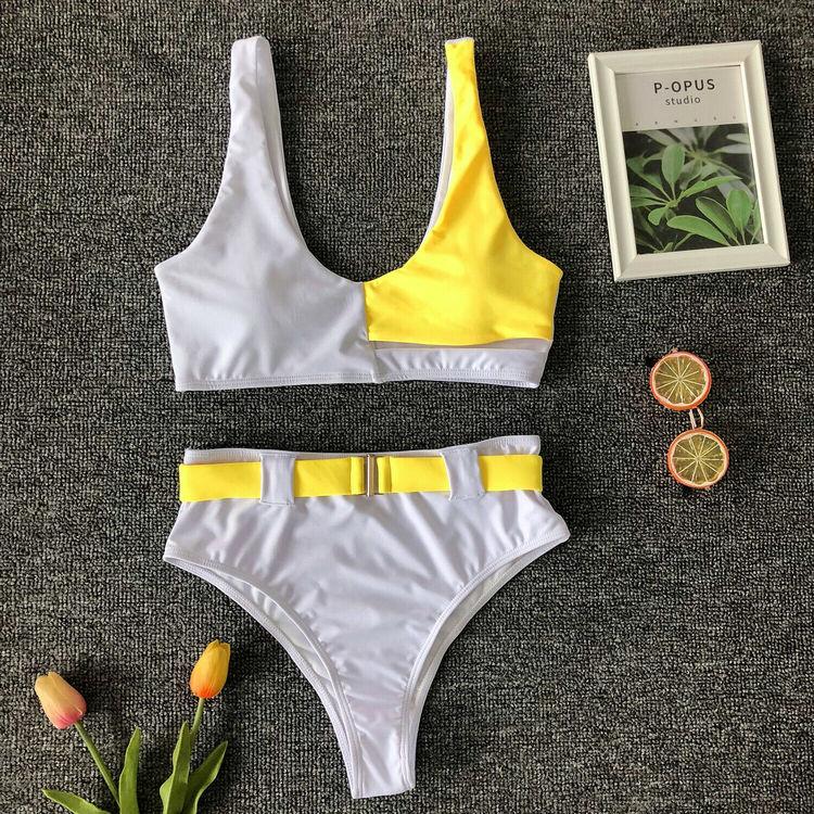 Nicky bikini white/yellow