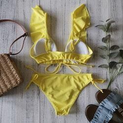 Tatiana ruffle bikini yellow