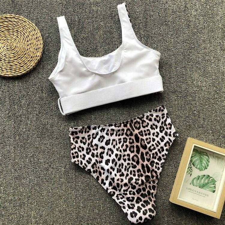 Ellie bikini white/leo