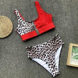 Ellie bikini red/leo