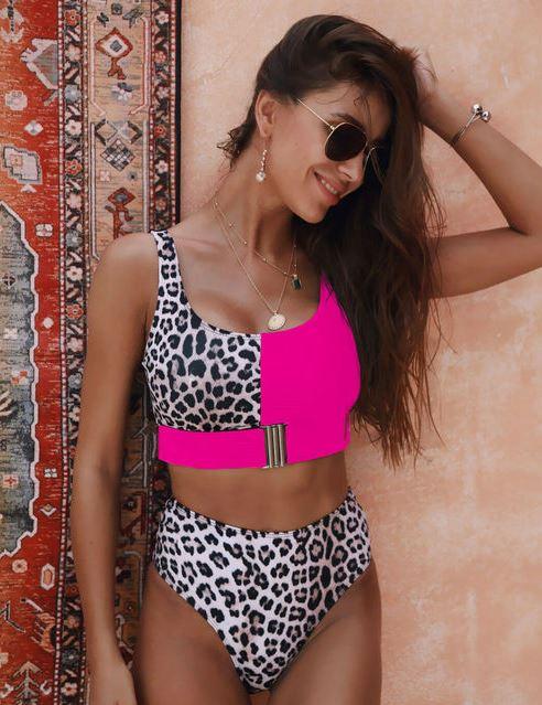 Ellie bikini pink/leo