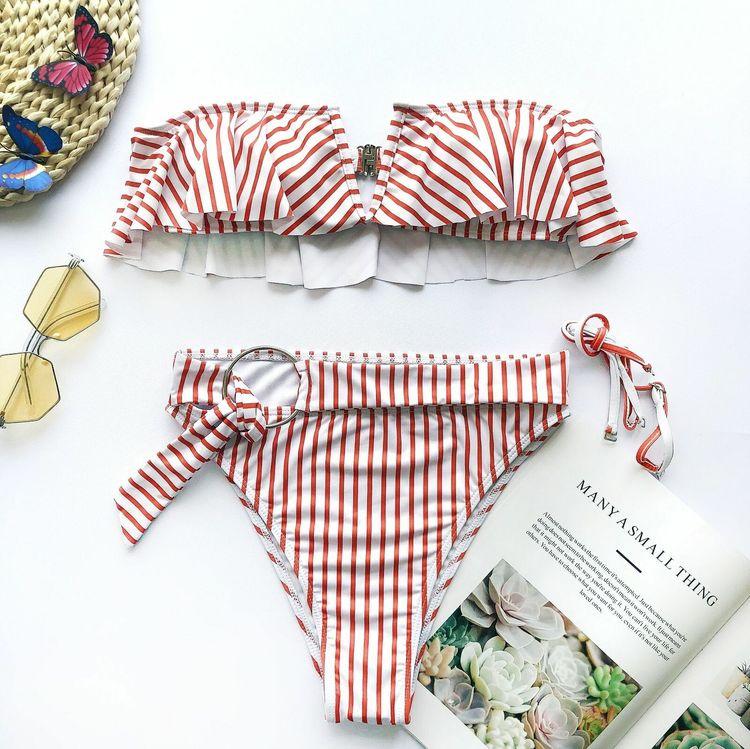 Monaco bikini red/white