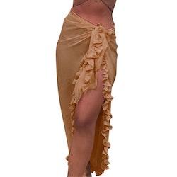 Beach ruffle skirt beige