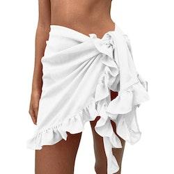 Short Beach ruffle skirt white