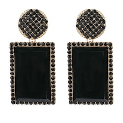 Caroline earrings black/gold