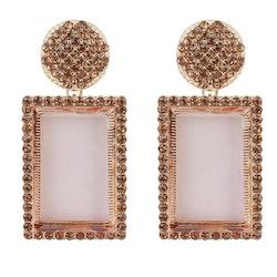Caroline earrings rose